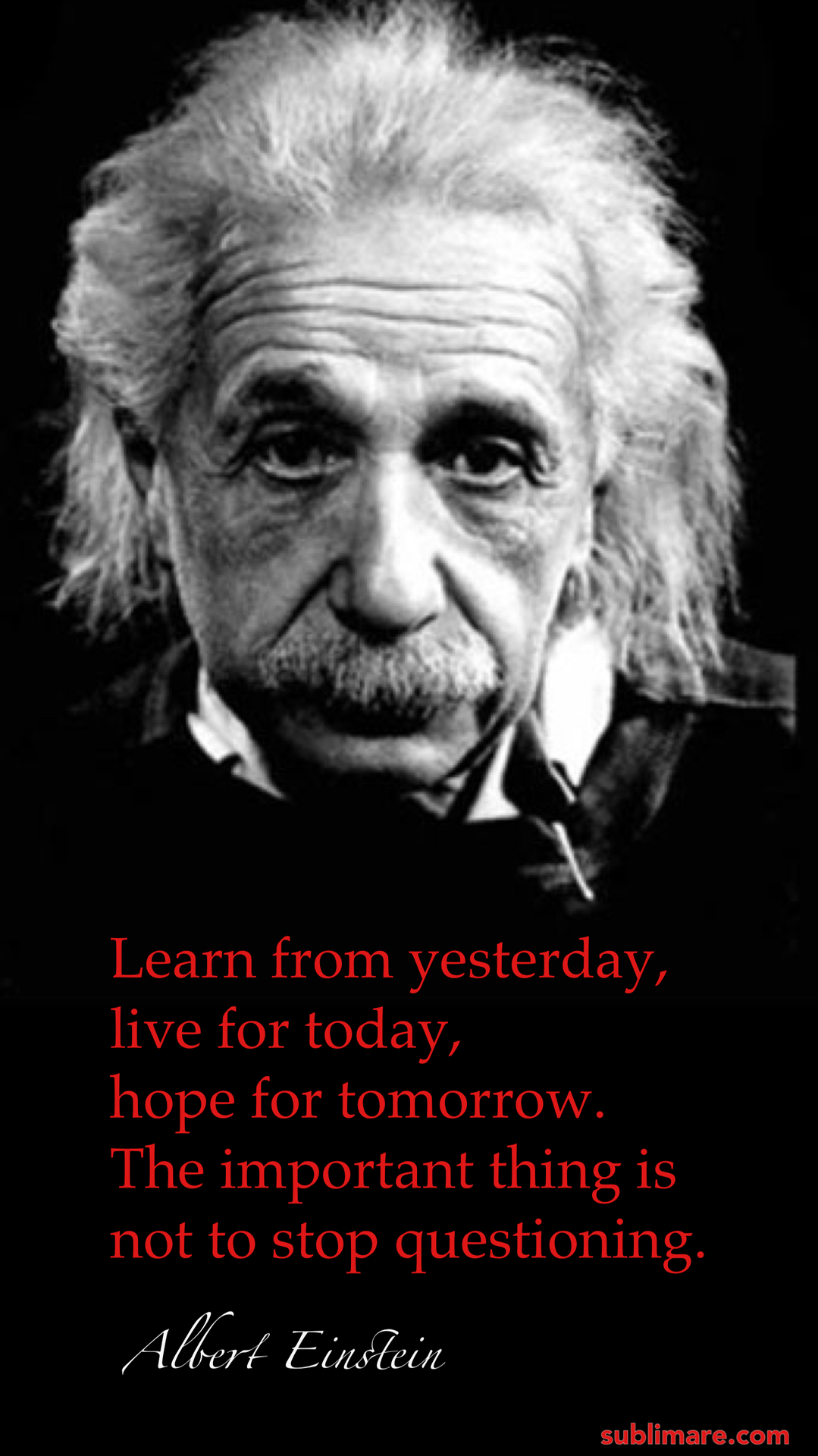 Einstein_Don't stop questioning