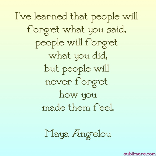 Maya Angelou - I've learned tha people