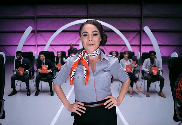 virgin america safety dance video